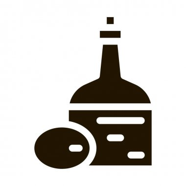 Olive Oil Bottle glyph icon vector. Olive Oil Bottle Sign. isolated symbol illustration icon