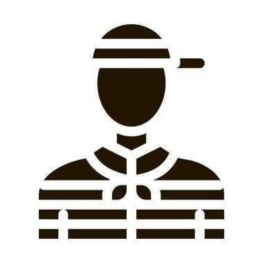 Gondolier Human glyph icon vector. Gondolier Human Sign. isolated symbol illustration icon