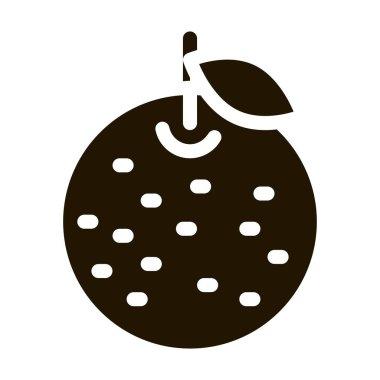 Orange Citrus glyph icon vector. Orange Citrus Sign. isolated symbol illustration icon