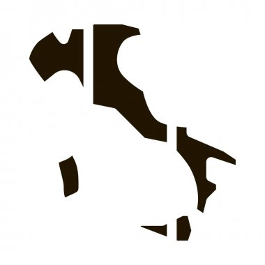 Italy Country Map glyph icon vector. Italy Country Map Sign. isolated symbol illustration icon