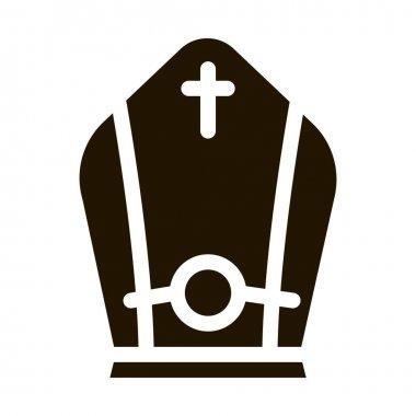 Papal Tiara glyph icon vector. Papal Tiara Sign. isolated symbol illustration icon