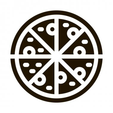 Pizza Italy Meal glyph icon vector. Pizza Italy Meal Sign. isolated symbol illustration icon
