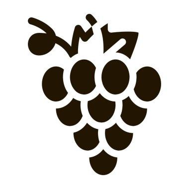 Grape Wine Berry glyph icon vector. Grape Wine Berry Sign. isolated symbol illustration icon