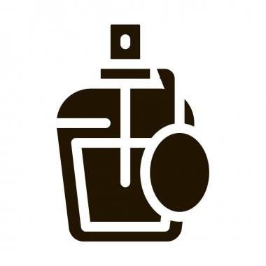 Perfume Bottle glyph icon vector. Perfume Bottle Sign. isolated symbol illustration icon