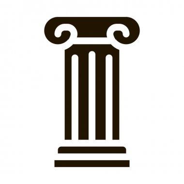 Antique Column glyph icon vector. Antique Column Sign. isolated symbol illustration icon