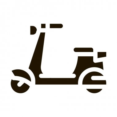Scooter glyph icon vector. Scooter Sign. isolated symbol illustration icon