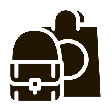 Bag Fashion Style glyph icon vector. Bag Fashion Style Sign. isolated symbol illustration icon