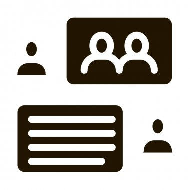 People Discussing glyph icon vector. People Discussing Sign. isolated symbol illustration icon