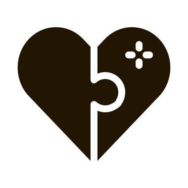 Heart Love glyph icon vector. Heart Love Sign. isolated symbol illustration icon