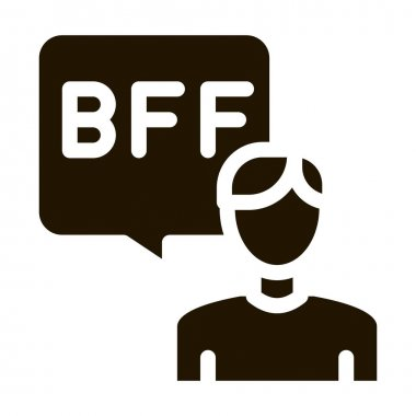 Human Talking Bff glyph icon vector. Human Talking Bff Sign. isolated symbol illustration icon