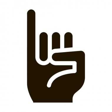 Hand Gesture glyph icon vector. Hand Gesture Sign. isolated symbol illustration icon