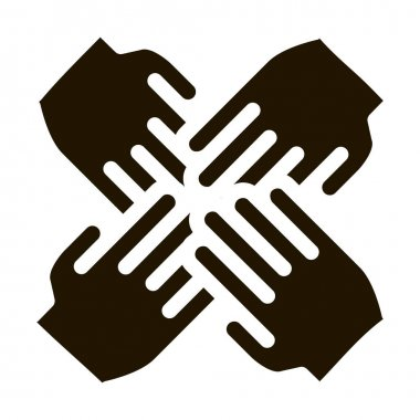 Group Handshake glyph icon vector. Group Handshake Sign. isolated symbol illustration icon