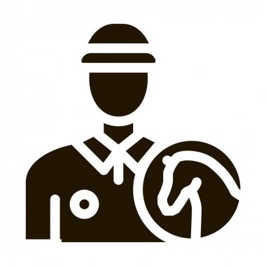 Man Jockey glyph icon vector. Man Jockey Sign. isolated symbol illustration icon
