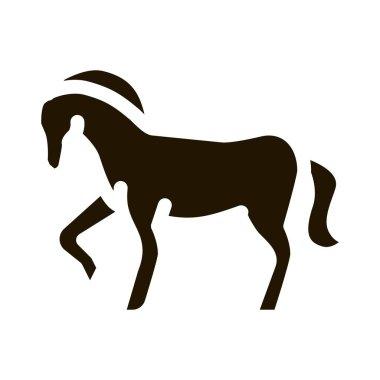 Horse Animal glyph icon vector. Horse Animal Sign. isolated symbol illustration icon