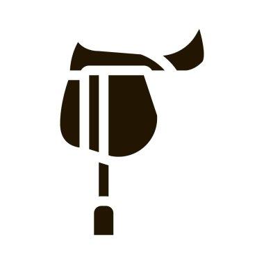 Jockey Saddle glyph icon vector. Jockey Saddle Sign. isolated symbol illustration icon