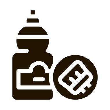 Liquid Bottle glyph icon vector. Liquid Bottle Sign. isolated symbol illustration icon