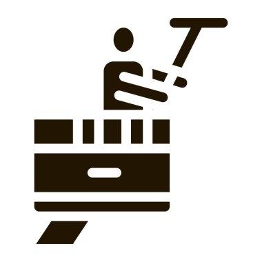 Window Washer glyph icon vector. Window Washer Sign. isolated symbol illustration icon