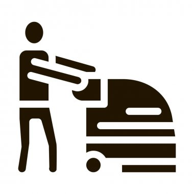 Wash Machine glyph icon vector. Wash Machine Sign. isolated symbol illustration icon