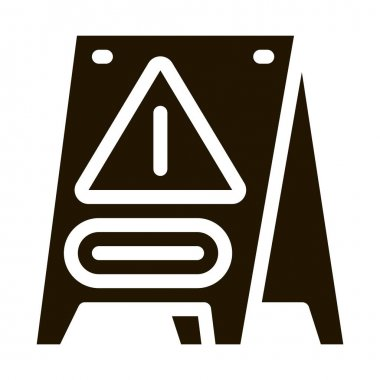 Caution Board glyph icon vector. Caution Board Sign. isolated symbol illustration icon