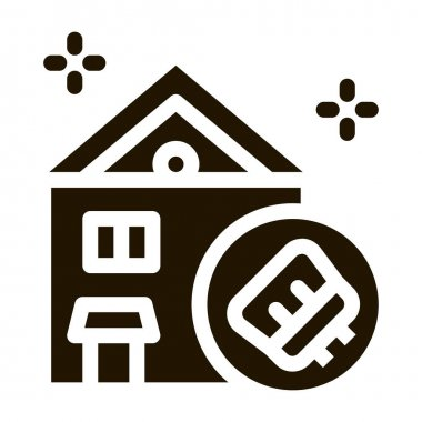 House Cleaning glyph icon vector. House Cleaning Sign. isolated symbol illustration icon