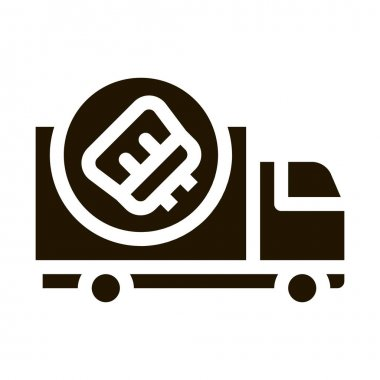 Cleaning Truck glyph icon vector. Cleaning Truck Sign. isolated symbol illustration icon