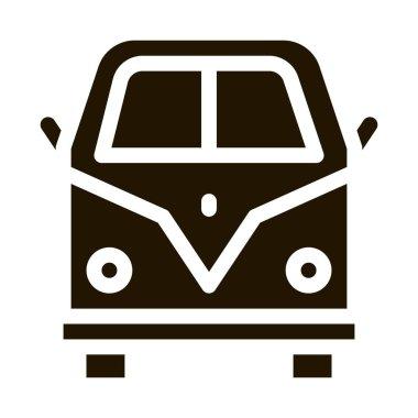 Van Bus glyph icon vector. Van Bus Sign. isolated symbol illustration icon