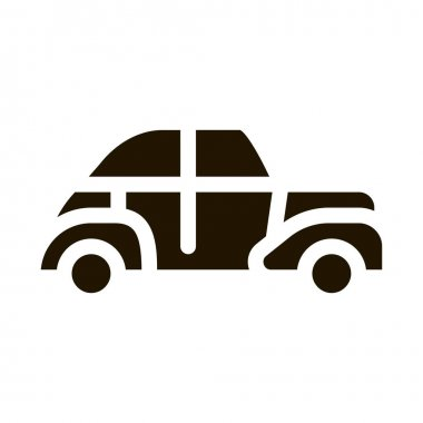 Classical Car glyph icon vector. Classical Car Sign. isolated symbol illustration icon