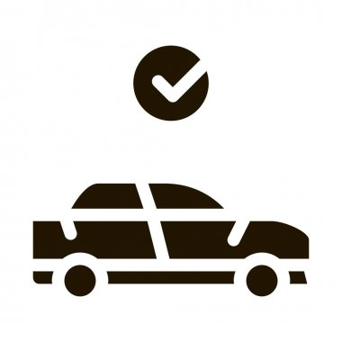 Fixed Car glyph icon vector. Fixed Car Sign. isolated symbol illustration icon