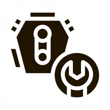 Engine Repair glyph icon vector. Engine Repair Sign. isolated symbol illustration icon