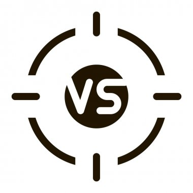 Vs Target glyph icon vector. Vs Target Sign. isolated symbol illustration icon