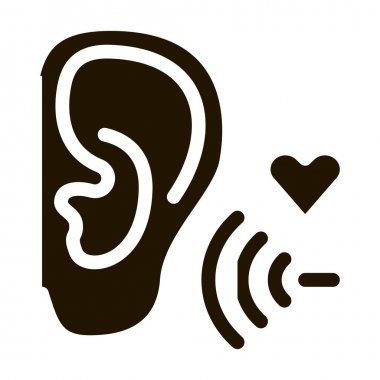 Pleasant Sound for Ear glyph icon vector. Pleasant Sound for Ear Sign. isolated symbol illustration icon
