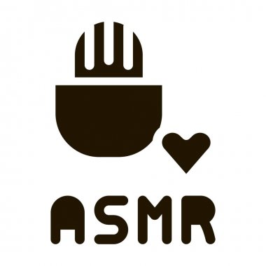 Sound in Microphone Asmr glyph icon vector. Sound in Microphone Asmr Sign. isolated symbol illustration icon