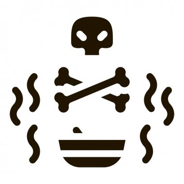 Deadly Poison glyph icon vector. Deadly Poison Sign. isolated symbol illustration icon