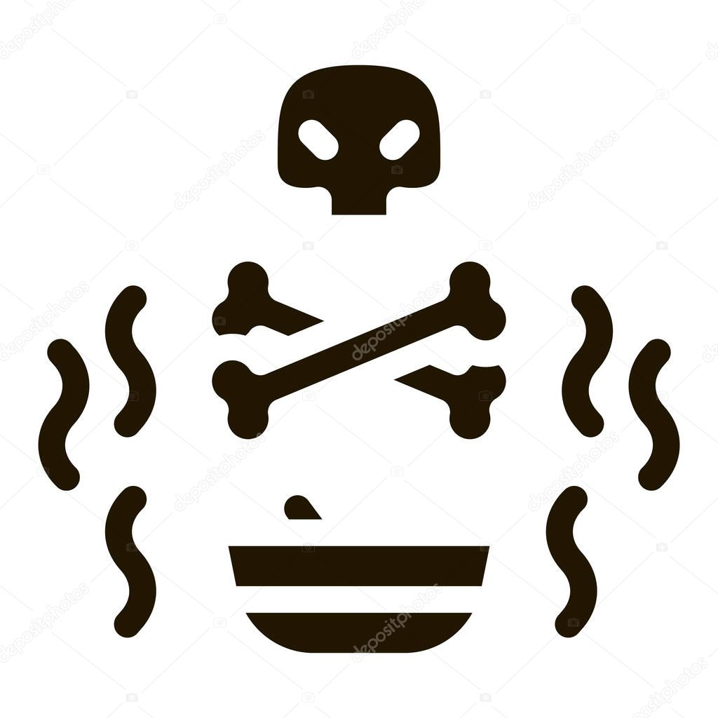 Deadly Poison glyph icon vector icon