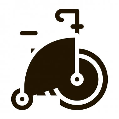 Penny Farthing glyph icon vector. Penny Farthing Sign. isolated symbol illustration icon