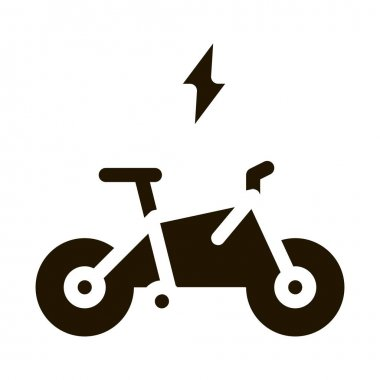 Speed Bike glyph icon vector. Speed Bike Sign. isolated symbol illustration icon