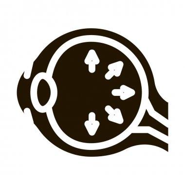 Eyeball Disorder glyph icon vector. Eyeball Disorder Sign. isolated symbol illustration icon