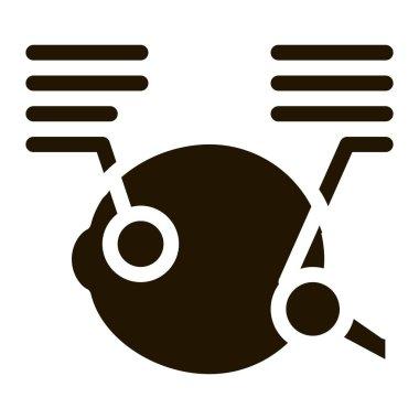 Detailed Analysis of Eyeball glyph icon vector. Detailed Analysis of Eyeball Sign. isolated symbol illustration icon
