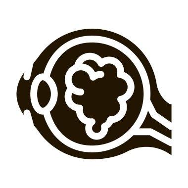 Cataract Eyes glyph icon vector. Cataract Eyes Sign. isolated symbol illustration icon