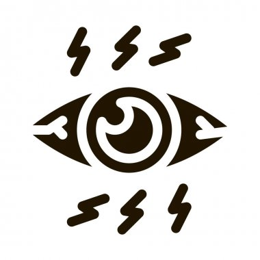 Strong Eye Pressure glyph icon vector. Strong Eye Pressure Sign. isolated symbol illustration icon