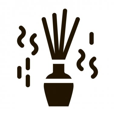 Aroma Sticks glyph icon vector. Aroma Sticks Sign. isolated symbol illustration icon