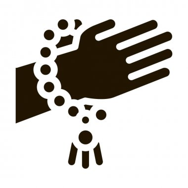 Yoga Meditation Bracelet glyph icon vector. Yoga Meditation Bracelet Sign. isolated symbol illustration icon