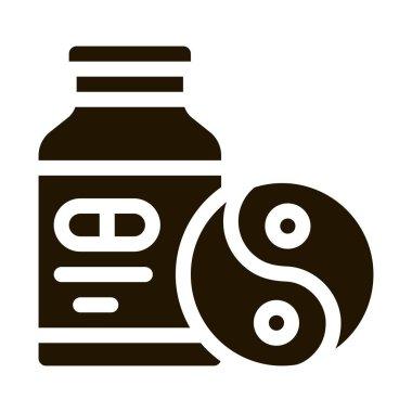 Sedative Pills glyph icon vector. Sedative Pills Sign. isolated symbol illustration icon