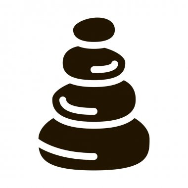 Stones Balance glyph icon vector. Stones Balance Sign. isolated symbol illustration icon