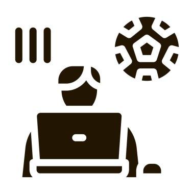 Soccer Critic glyph icon vector. Soccer Critic Sign. isolated symbol illustration icon