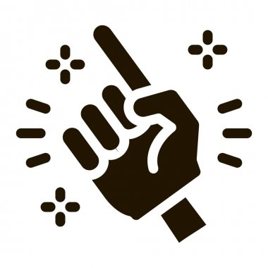 Referee of Match glyph icon vector. Referee of Match Sign. isolated symbol illustration icon