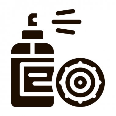 Antibacterial Spray Kill Microbe Vector Sign Icon . Anti-infective Antibacterial Agent Pictogram. Microbe Type Virus Biology Microorganism Contour Monochrome Illustration icon