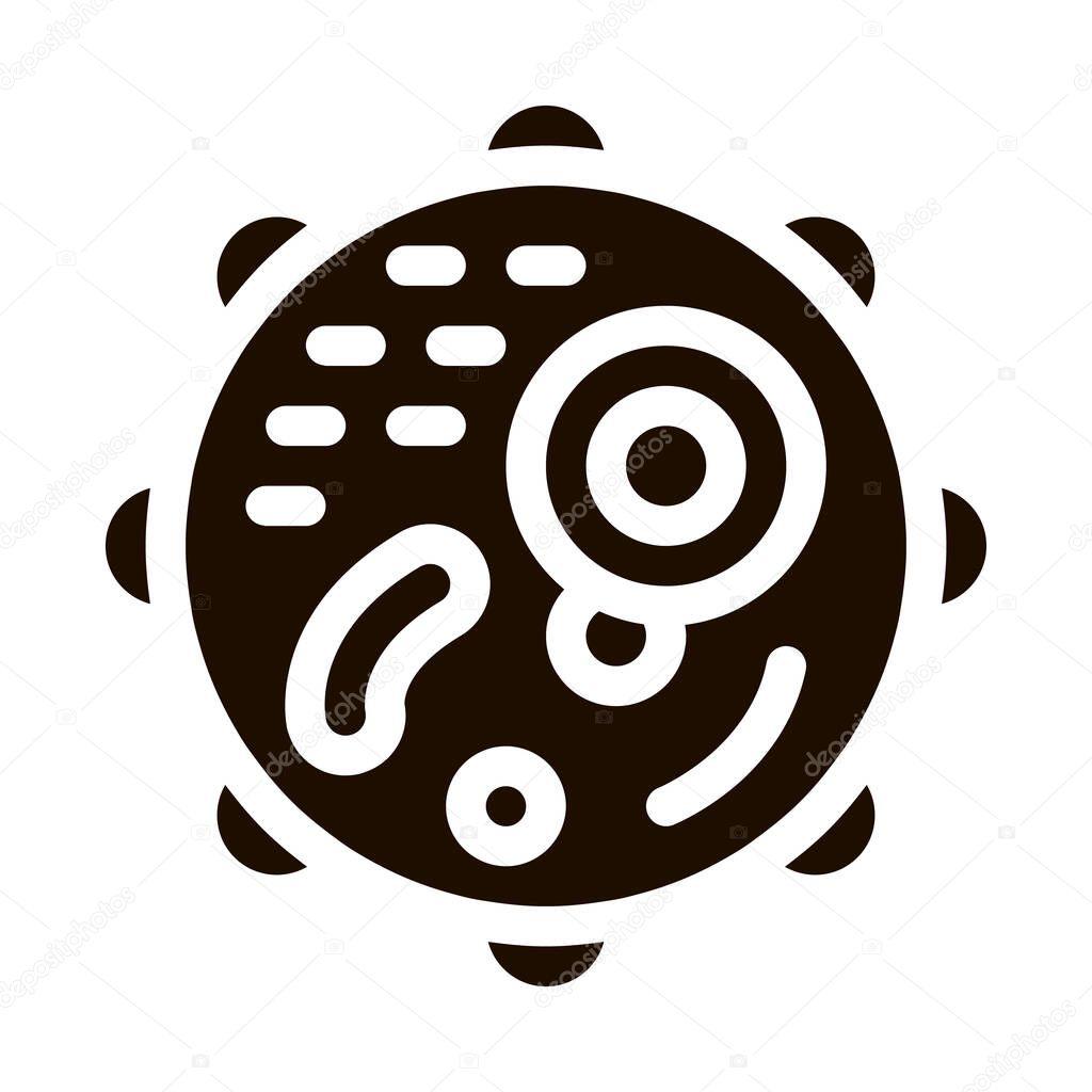 Microscopic Round Bacterium Vector Icon Sign icon