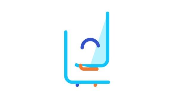 Zařízení kotlového ohřevu plynu Animace ikon