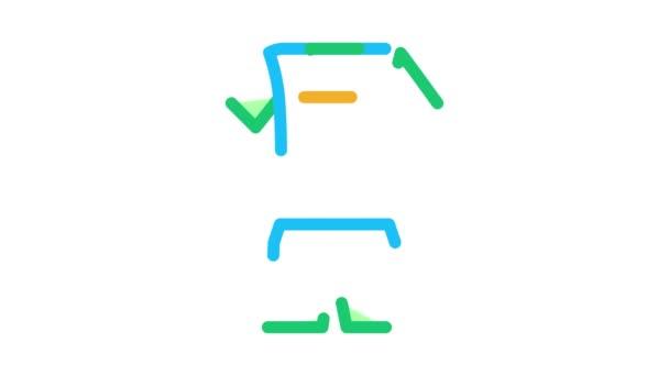 Animace uniformních ikon volejbalu